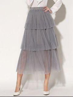 Pleated Layered Tulle