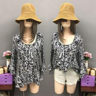 Plus size animal print blouse (size:xL)