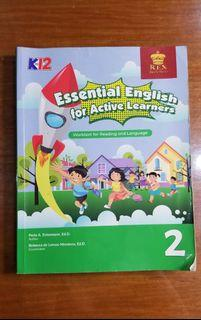REX ESSENTIAL ENGLISH FOR ACTIVE LEARNERS GRADE2