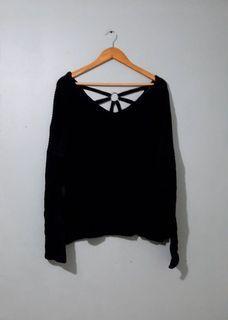 Sexy Back Knitted Sweater