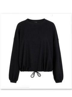 Stradivarius black bungee sweat shirt