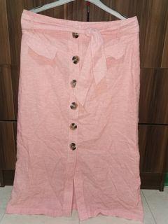 Stradivarius peach skirt