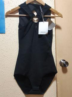 Stradivarius sexy black bodysuit/1pc