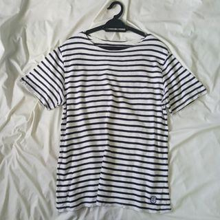 Top Sides Stripe Cotton T-shirt