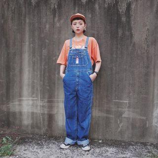 日本Blue Way藍色牛仔吊帶褲 古著 二手選物 Vintage