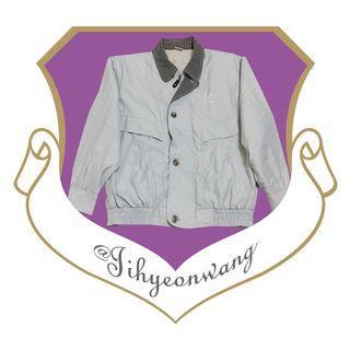 特品 Kawasaki 古著 古著外套 經典日牌 長袖 上衣 拼色 撞色 檔片 哈靈頓外套 夾克 素面 素色 @下課來玩吧