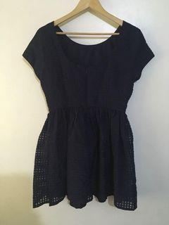 Authentic Forever 21 Womens Dark Navy Blue Formal Dress Size Large