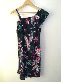 Authentic Joe Fresh Womens Floral Off Shoulder Dress Size XS