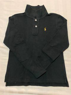 Authentic Ralph Lauren Kids Black Long sleeves Collared Shirt Top