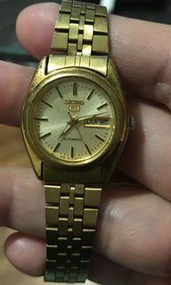 Authentic Seiko 5 Automatic Vintage Ladies Watch