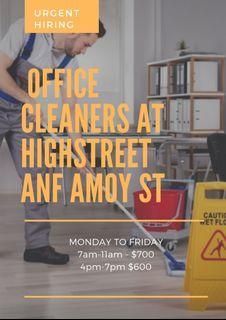 CBD office cleaners hiring