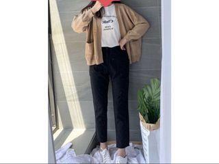 二手現貨|doublew購入小個子必備褲長80cm鬆緊腰西裝褲
