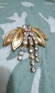 Gold with Stones Brooch