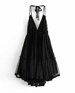 halter ruffle dress! Size M
