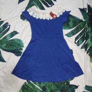 New Blue Off Shoulder Dress