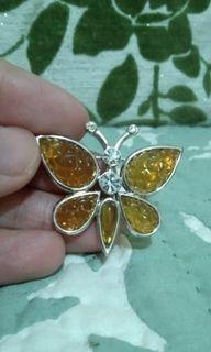 Signed NINA RICCI Butterfly Brooch