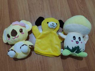Yellow Stuffed Toy and Puppet Bundle