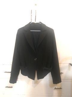 專櫃購入/單扣西裝外套軟布時尚韓風西外