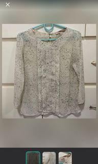 F21 sheer blouse size xs
