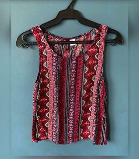 H&M cotton sleeves top size small