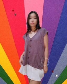Lilac vest/ korean purple vest