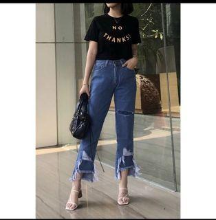 MESSY RUFFLE JEANS HERSPOT SIZE M