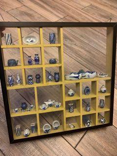 Miniature Blue and White CHINA - glass display