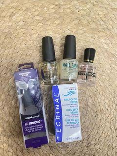 Nail strengthener, protein hardener & quick dry
