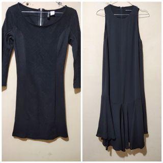 OBRAL Tops H&M  dan Long Dress Hitam ukuran S