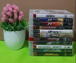 PS3 Playstation 3 Racing Games F1 MotoGP  Need For Speed