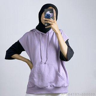 Rompi hoodie wanita
