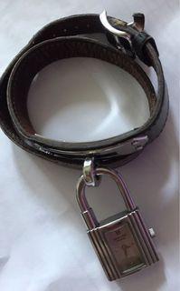 100%real HERMES KELLY watch silver 有日本二手店領収書