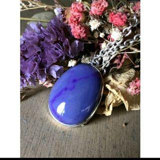 天然紫舒俱來銀墜(不含鏈)