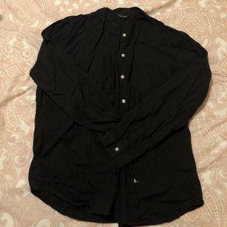 日本製文青中山領棉麻襯衫