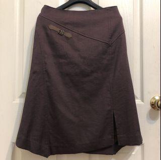 紫色皮革裝飾古著裙#支持