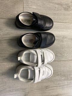 返學 白波鞋 白鞋 黑皮鞋 Reebok Buster