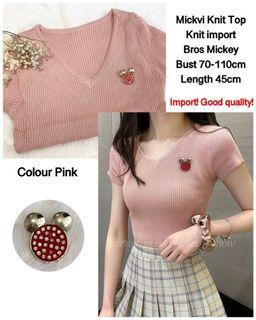 ec Mickvi knit top import abu l atasan fashion baju kaos import wanita