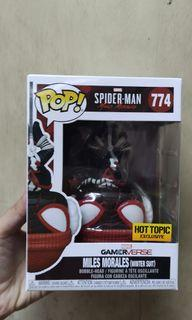 Funko Pop! Miles Morales Spiderman Wintersuit Hot Topic with 0.5mm protector
