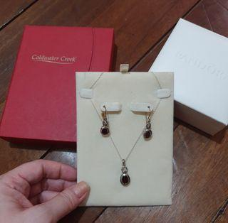 Garnet Coldwater Creek Set Jewelry