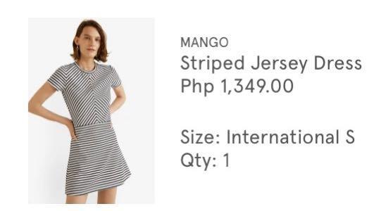 Mango Striped Jersey Dress