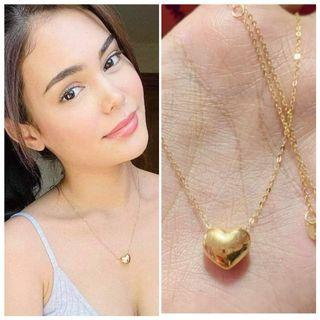 New! Pay Now, next day delivery/Shipping 🥇 18K + VVSPL Full Heart Big Necklace Set (please see photos and read description for details )
