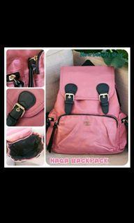 #Brandsale. Original Tas Bagpack Pink Salem MEWAH WATERPROOF ORIFLAME