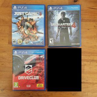 (PAKET 4 Game PS4) - Just Cause 3, Uncharted 4, Driveclub, Tom Clancy's