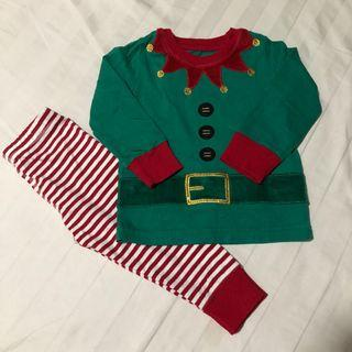 Preloved Mothercare elf novelty pyjamas