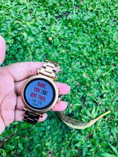 Smartwatch Fossil Gen 4 gold stainlessteel mewah cantik