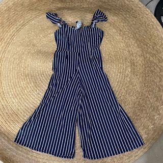 Striped jumpsuit free size