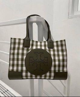 Tory Burch Ella Gingham Tote Bag