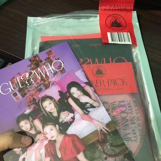 Unsealed itzy guess who limited w/o photocards