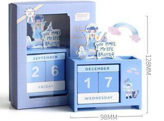 You Make My Life Brighter- Wooden Calendar c/w Gift Box ⭕ Gift Box a bit dented