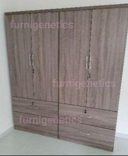 2/4 Door Oak Wardrobe